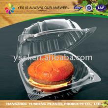 Made in China hamburger packaging box,hamburger packaging,plastic clamshell disposable hamburger box