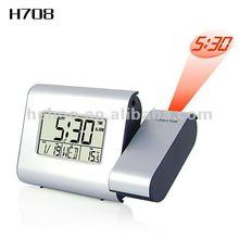 Modern digital alarm clock with projector