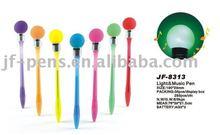 Plastic light up bulb pen