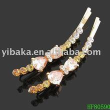Fashion girl hair wear collections bent wind hair pin/bobby pin/hair stick HF80590
