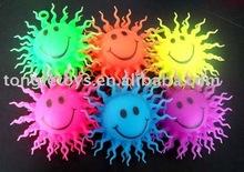 Spiky smile face puffer ball