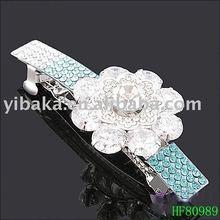 Lovely Barrette for girls alloy + rhinestone +flower dotted hair grips elegant hair accessories HF80989