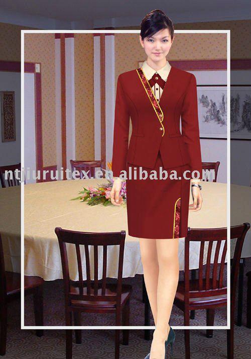 recepcionista hotel uniforme