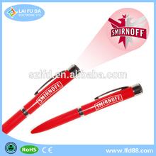 New 2014 cheap promotional gift led logo projector ballpoint pen,Glow pen led light