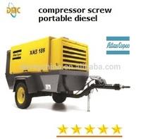 900cfm, 300psi, diesel portable rotary screw compressor