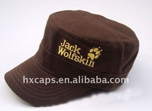 2012 new fashion flat top army military side cap