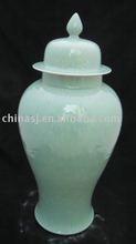 Engrave celadon ceramic ginger jar WRYKB07