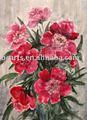 Flor de tecido desenhos de pintura, alta- qualidade da mão- tela pintada arte abstrata sobre tela, decoração da parede fotos atacado resta