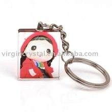 Lovely Crystal Key Photo Chain for Holiday Gifts