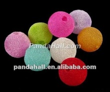 Mixed Color Acrylic Woven Balls Beads(PL099Y)