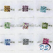 Multicolor rhinestone adjustable Children's rings