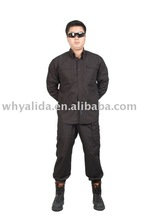 Ripstop polyester cotton Black Military Shirts and Pants