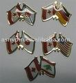 Les goupilles de revers de drapeau du Canada, la goupille allemande de revers de drapeau, Etats-Unis marquent l'insigne