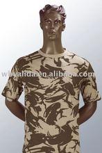 Moda militar exército barato britânico Desert todo algodão T - camisa