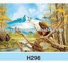 2014 High Definition 3D Lenticular hawk Printing Craft