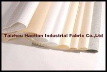 Aguja de poliéster perforado sentía bolsa filtro de Material de la tela