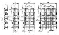 standard roller chain Alpha 40B3 tripl. 2 1/