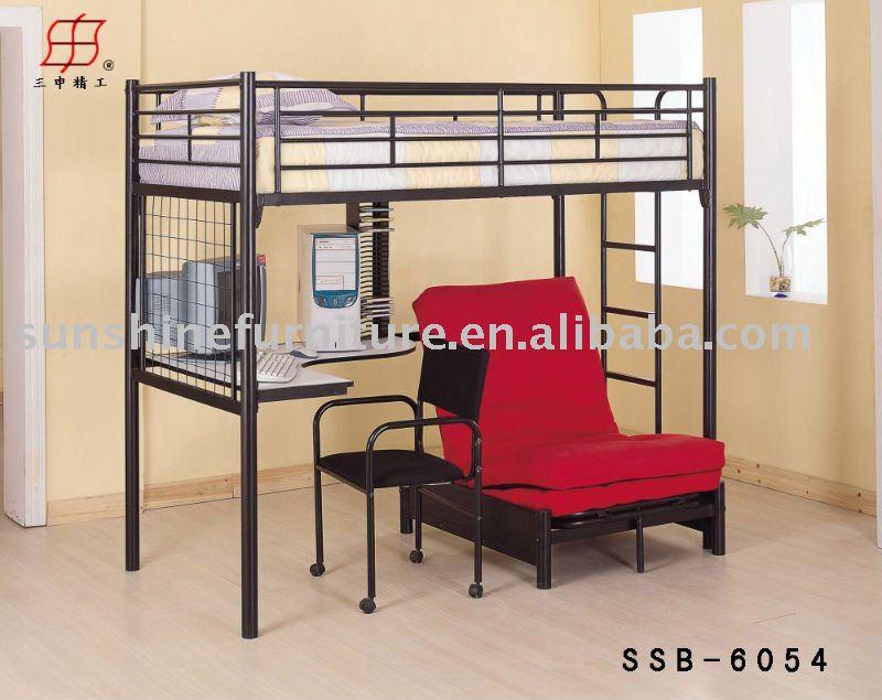 Cama litera con escritorio cama de metal identificaci n - Cama litera con escritorio debajo ...
