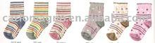 100%cotton knitted fancy baby anitslip custom socks