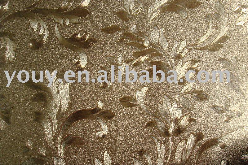 wallpaper gold. PVC wallpaper gold