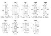 taper lock v belt pulley 63 - 2 grooves For Taperlock 1108 type T8