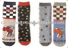 cotton full terry towel warm children fancy boy girl shcool socks