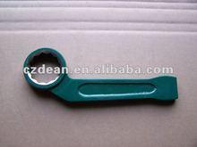 non sparking Bent handle striking box wrench,slogging spanner