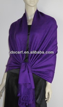 Shawl scarves Chiffon scarf with classical whole paisley jacquard pashmina purple