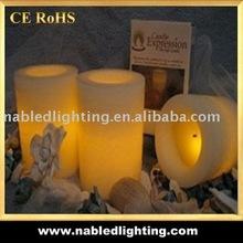 3pcs set Wax LED Candle light with color box