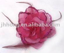 Rose feather flower head hair accessories HYL05639