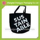 Black Cotton shopping bag (COT-007)