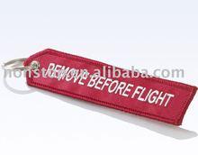 remove before flight keychain/keyring/key chain/key ring