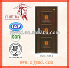 Safety residential iron steel entry doors with glass insert exterior grille des