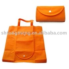 Non Woven Foldable Shopping Bag with plastic button(TM-NWFB-006)
