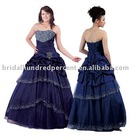 Newest Style Beaded Quinceanera Taffeta Fluffy Prom Dress