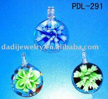 beautiful round shaped glass beads pendant