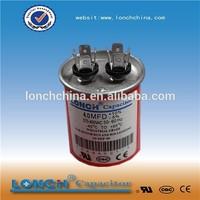 high quality motor run cbb65 60uf 250v capacitor