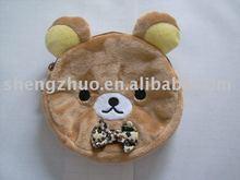 Stuffed plush animal toy,bear coin purse,bag,wallet