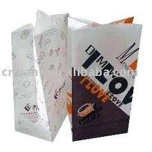 OEM Zhejiang wholesale custom white kraft paper snack packaging food film paper bag with no handle
