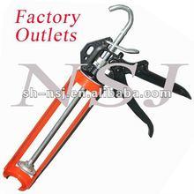 Manual iron caulking gun for single tube