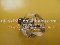 modern heart shape glass nail polish bottle and brush