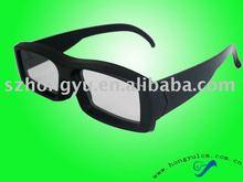 classic black frame circular polarized 3D glasses
