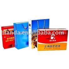 China Manufacturer flat handle Kraft brown paper Bag