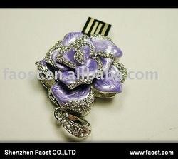 rose jewelry diamond usb flash drive