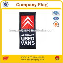 Black Printed Car Brand Custom Company Flag