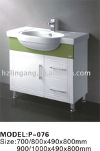 classic white high gross paint PVC water proof bathroom cabinet