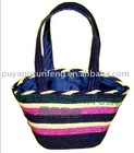 colorful straw tote bags/eco-friendly shopping straw bags