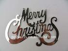 christmas tree hanging metal letter-merry christmas