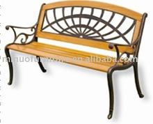 New style outdoor garden cast aluminum park bench