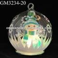 Boule en verre de bonhomme de neige de Noël avec la lumière de LED